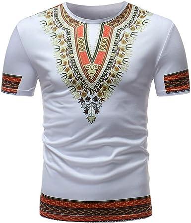 waotier Camiseta De Manga Corta Hombre Ropa con Estampado De Estilo Africano para Hombre Camiseta De Hombre De Verano De Moderno: Amazon.es: Ropa y accesorios