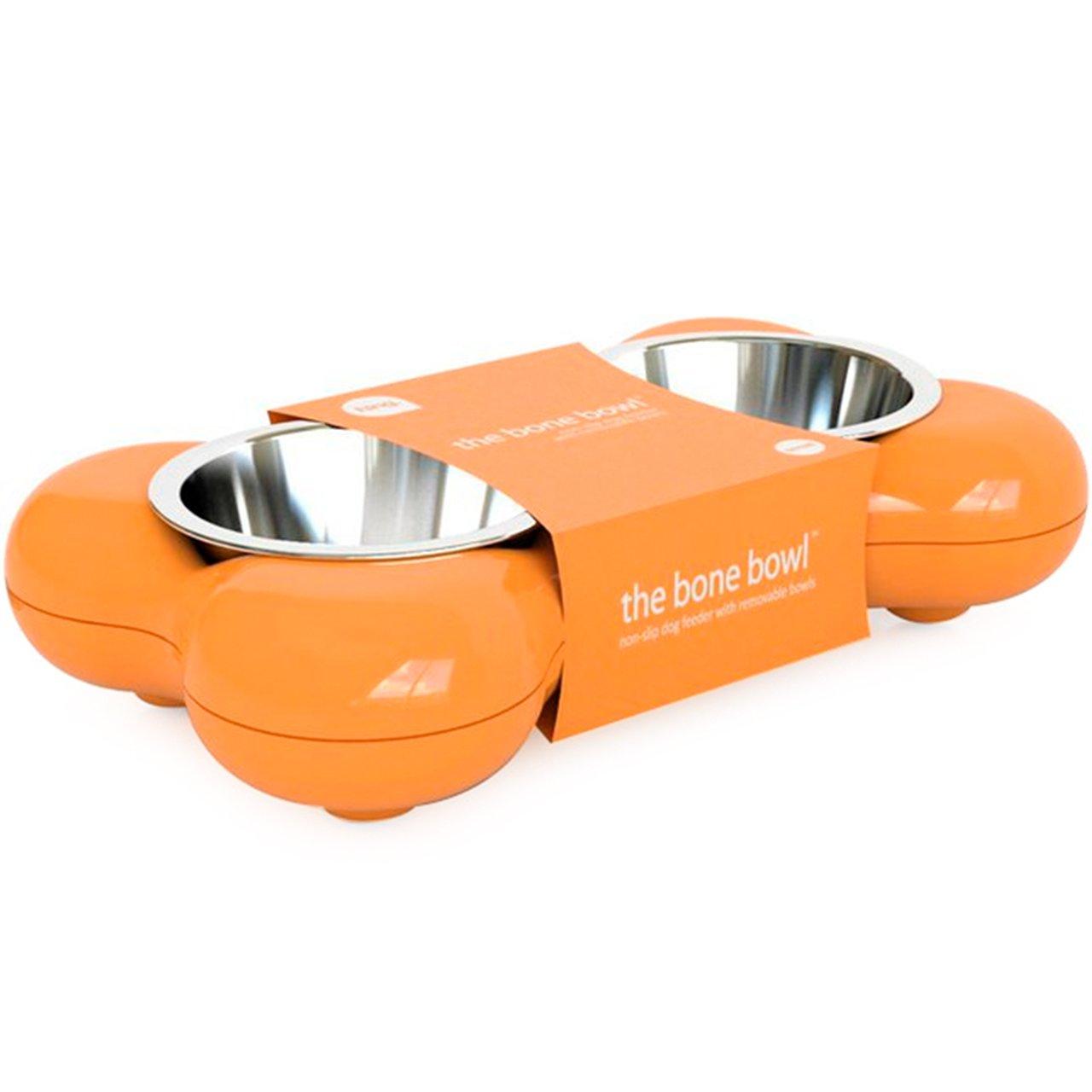 Mangeoir pour chiens en forme d'os - Noir hing 56