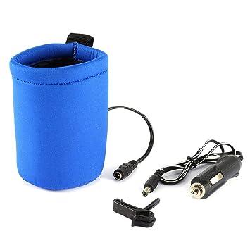 Calentador de botellas de coche para bebé, 12 V CC, portátil, para viaje