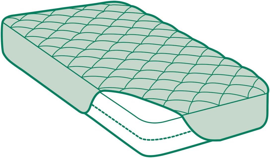 Coprimaterasso Trapuntato con Trattamento all/'Aloe Vera Savel Microfibra Extra Morbida Reversibile e Adattabile Lettino 60x120cm
