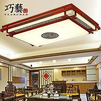 TYDXSD Neue Chinesische Verstellbare Lampe Rechteckig Lammfell Atmosphrische Wohnzimmer Solide Holz Palisander Marmor Antik Schlafzimmer