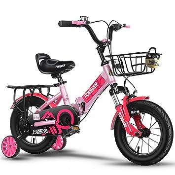 YON JIU Plegable bicicleta, niño niña Pedal bicicleta infantil individual bicicleta 2-12 años