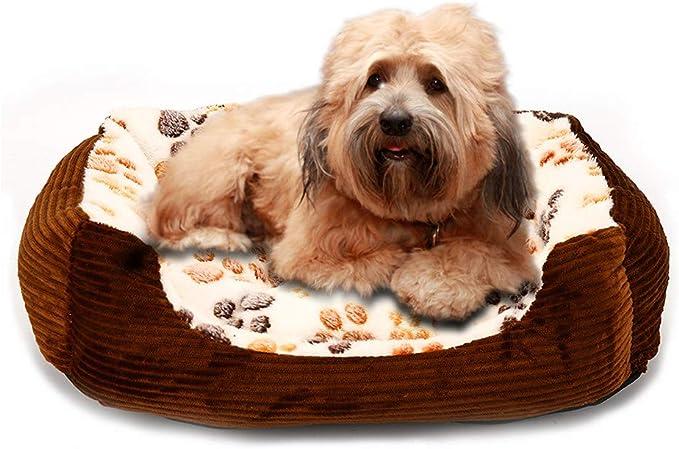 DHUMI Mascota Perro Camas esteras para Perros Cachorro Gato Cama casa Invierno Perro Cama sofá perreras casa Banco Perros Mantas, Beige, yx0002, l como imágenes
