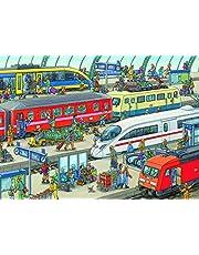 Ravensburger Railway Station Puzzle 60pc,Children's Puzzles