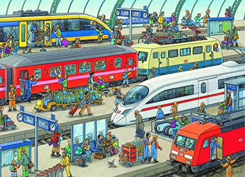 (Ravensburger Railway Station 60 Piece Jigsaw Puzzle for Kids - Every Piece is Unique, Pieces Fit Together Perfectly)