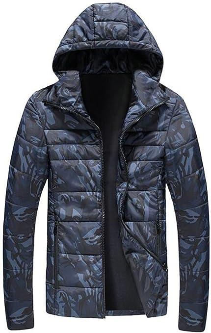 ONTBYB Mens Winter Thicken Fleece Lined Hoodie Parka Coat Outwear