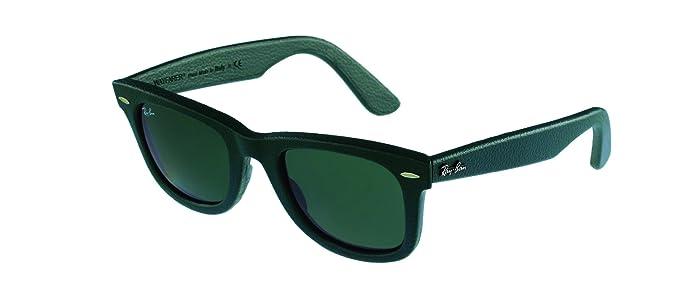 Ray Ban Wayfarer, Gafas de Sol Polarizado Unisex, Verde (Leather Green 1170), 50: Amazon.es: Deportes y aire libre