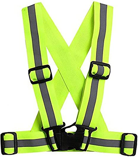 Chaleco Reflectante Ajustable, Correas elásticas YouGer Chaleco de Seguridad Visible para Correr, Caminar, Andar en Bicicleta, Montar a Caballo, Motocicleta (Verde Fluorescente): Amazon.es: Deportes y aire libre