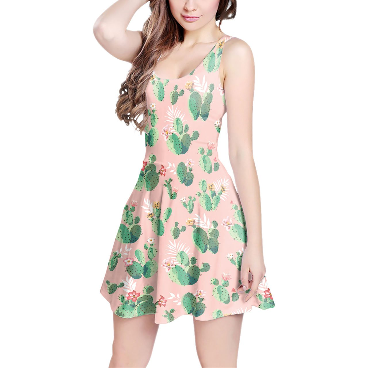 Cactus In Bloom Flared Maxi Dress