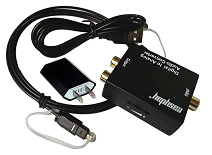 EDTREE Digital Optical Coax Toslink S/PDIF to Analog Coaxial RCA Audio Converter Adapter with