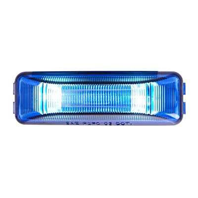 Grand General 82370 Blue Marker Light (Rectangle 2 Bulb): Automotive