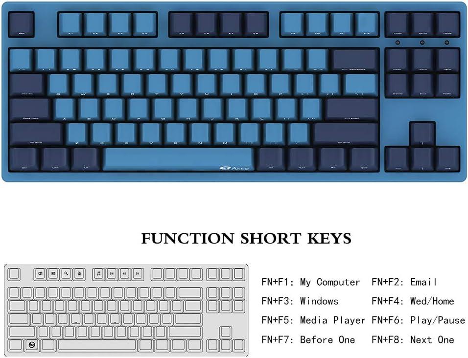 Akko 3087 Teclado mecánico para Gaming Cherry MX Switch PBT Keycap Full Anti-Ghosting
