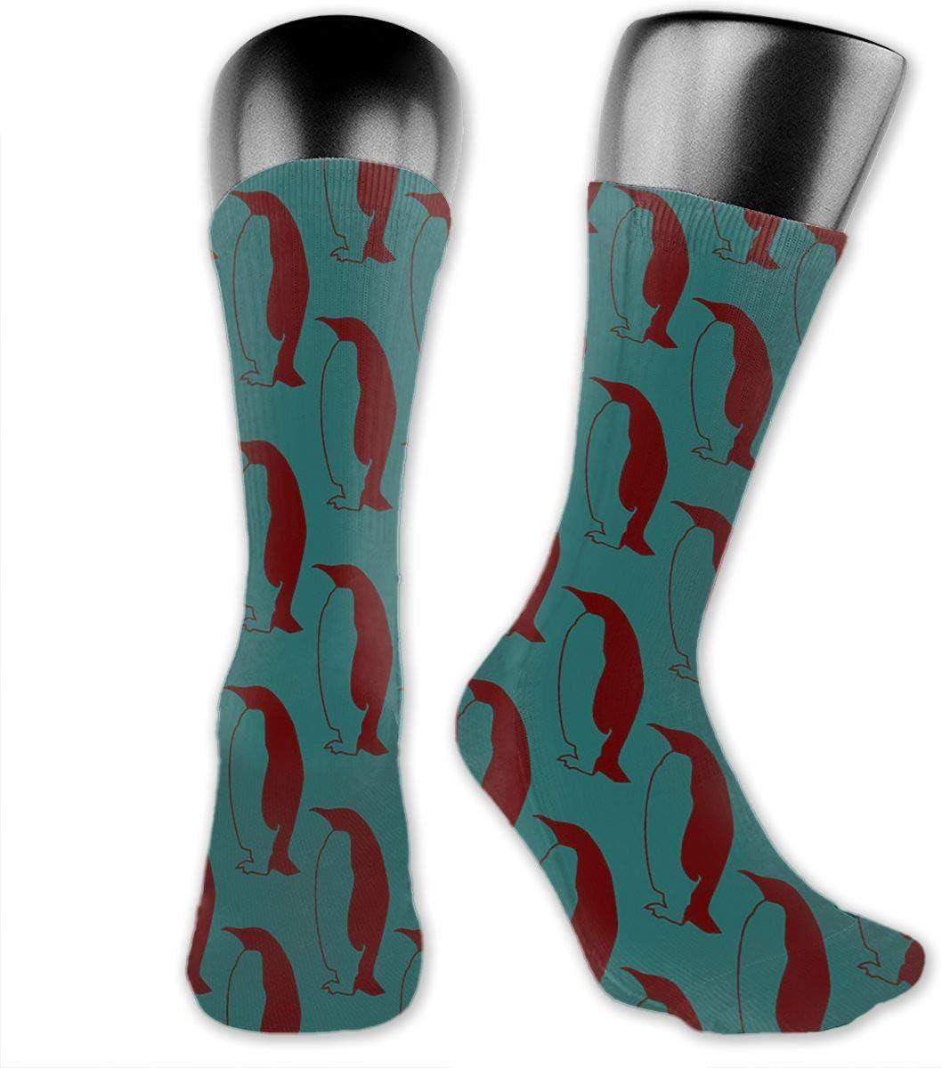 Yuotry Unisex Performance Cushion Crew Socks Tube Socks Red Penguin New Middle High Socks Sport Gym Socks