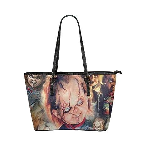 476defec8537 Good.luck Custom Chucky doll Women s Leather Tote Large Bag Handbag Shoulder  Bag  Amazon.ca  Luggage   Bags
