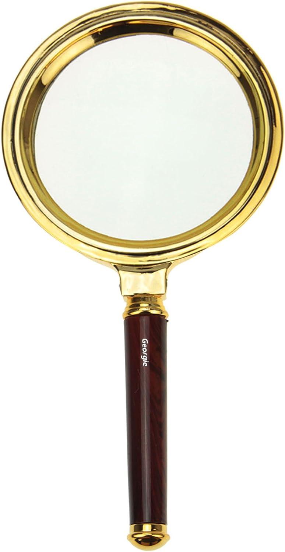 Vergr/ö/ßrungglas Leselupe /Ø 80mm 10 fach f/ür Senior Geburtsgeschenk Weinhnachtsgeschenk Leselupe Handlupe