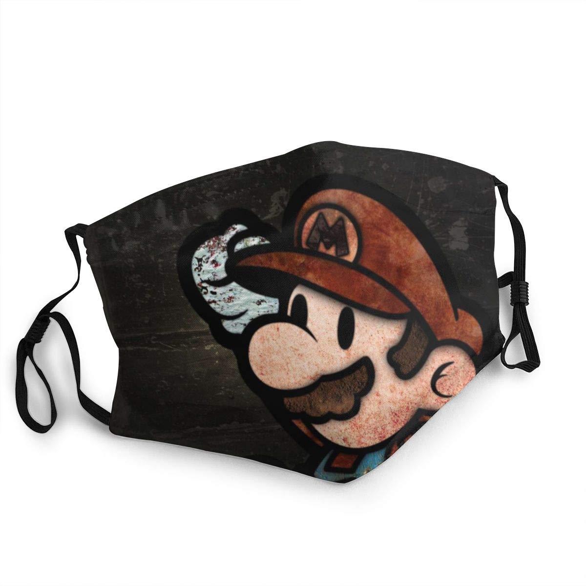 Protector bucal unisex Mario Super Marika Hecho de tela lavable adecuado para pasamontañas de deportes al aire libre cubierta de protección contra el polvo y la contaminación