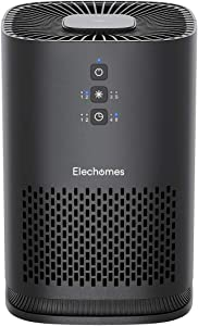 Elechomes EPI081 Air Purifier for Home Allergies Pollen Dust Pet Dander Smokers, Upgrade H13 True HEPA Filter with 4-Stage Filtration, Efficient Air Cleaner (99.97%), Odor Eliminators, 100% Ozone Free