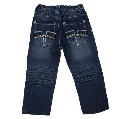 1cba348e70 Charms Kinder Baby Jungen Designer Jeans Hose Denim Blau mit Nieten und  Nähten 104