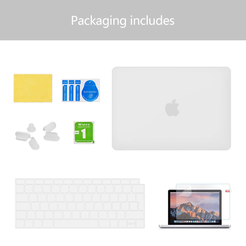 Ultrad/ünne Schutzh/ülle Hartschale Snap Case Laptop Glatt Cover f/ür Apple MacBook Air 13,3 mit Retina Display und Touch ID Transparent Utryit H/ülle F/ür MacBook Air 13 A1932 2018 Version