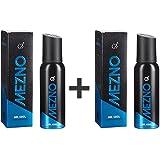 Mezno Mr. Cool - Fresh Active Fragrance Deodorant Body Spray for Men - 24 Hrs Fresh Power - No Gas Deo - 120ml (Buy 1 Get 1 Free )