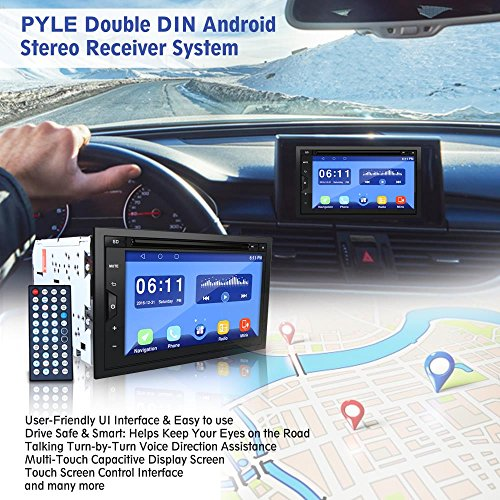 Pyle PLDAND697 Double Din Android Stereo Receiver System, 6.8 inches by Pyle (Image #6)