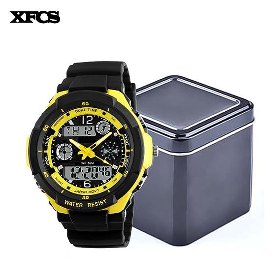 xfcs impermeable muñeca Digital Automático Relojes para hombres digitais reloj Running para hombre reloj Hombre digitales: Amazon.es: Relojes