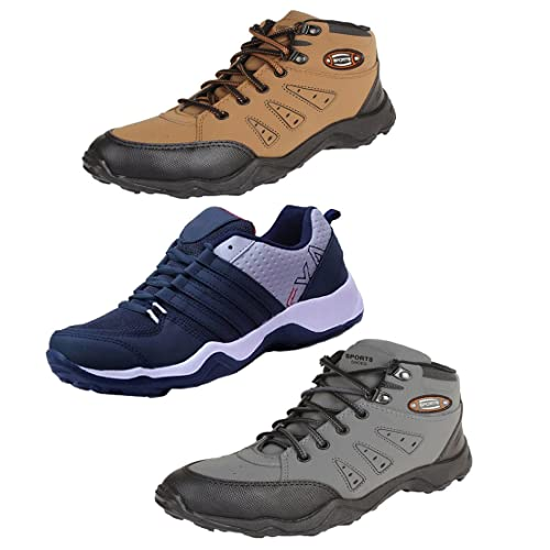 782227ab6be6fd Earton Men Combo Pack of 3 Sport Running Shoes  Buy Online at Low Prices in  India - Amazon.in