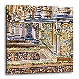 3dRose Danita Delimont - Spain - Spain, Andalusia, Seville. Plaza de Espana ornately decorated. - 15x15 Wall Clock (dpp_277899_3)