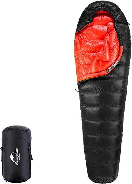 Portable Duck Down Sleeping Bag Camping Hiking 4-Season Thermal