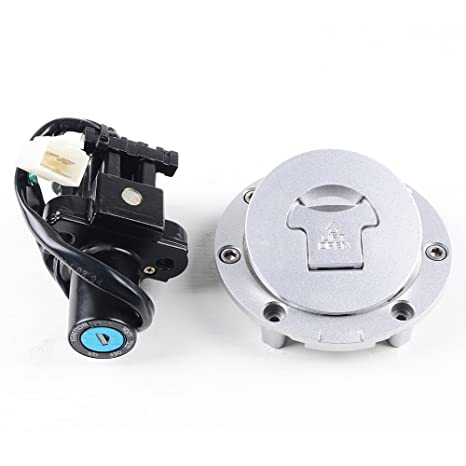 Amazoncom Motorcycle Set Fuel Gas Cap Ignition Switch Lock Key For