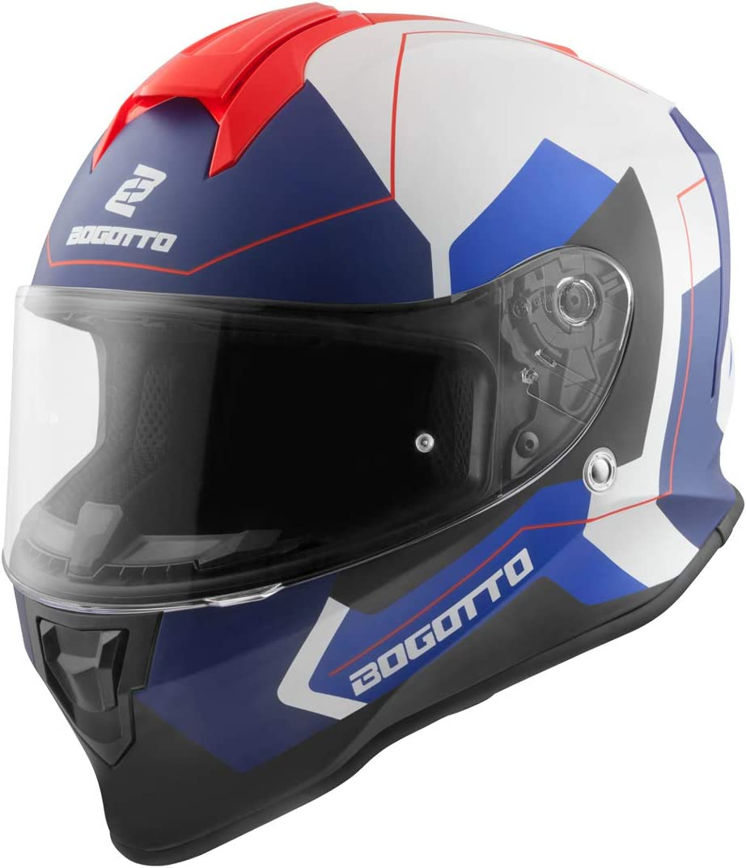 Bogotto V151 Sacro Helm Schwarz Matt//Orange XS