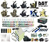 Complete Tattoo Kit 9 Machines Power Supply 40 colors ink