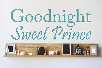 Amazoncom Sgdrbt Quotes Vinyl Wall Art Decals Goodnight Sweet