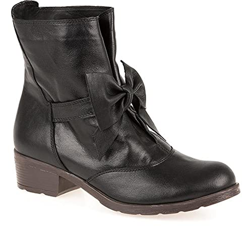 Bellissimo Ankle Boot with Bow 127 042 - Black Size 5