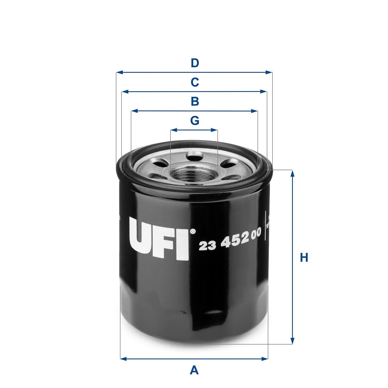 Ufi Filters 23.452.00 /Ölfilter