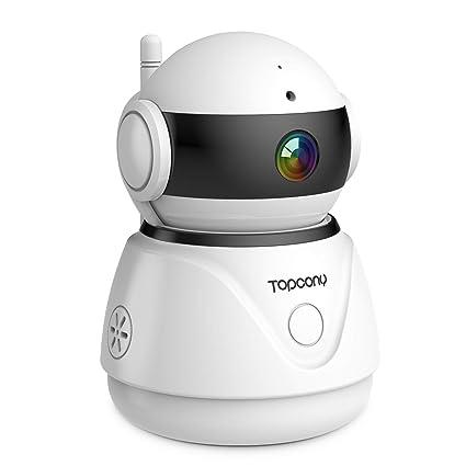 Topcony Telecamera di Sorveglianza 1080P interno telecamera ip ... 1a741f4f85dc