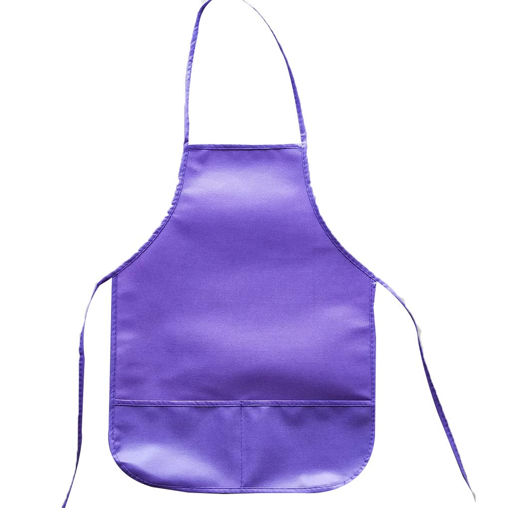 Minzhi Children Painting Aprons Assorted Colors Anti-fouling Art Smock Waterproof Non-Woven Fabric Bibs