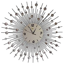 Decorative Large Metal Crystal Wall Clock (29''inch) By MEIDA