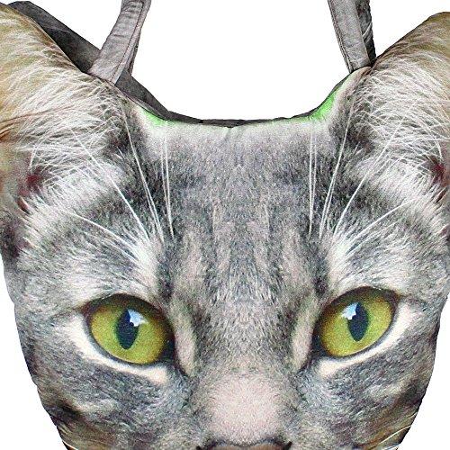 Digital Bedruckte Tier Gesicht-Tasche, Polyester, 12 X 12 X 24 Zoll, Katze Kopf Gesicht, Afb01-5