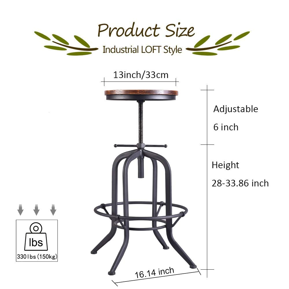 Sensational Amazon Com Industrial Bar Stool Vintage Adjustable Metal Pdpeps Interior Chair Design Pdpepsorg