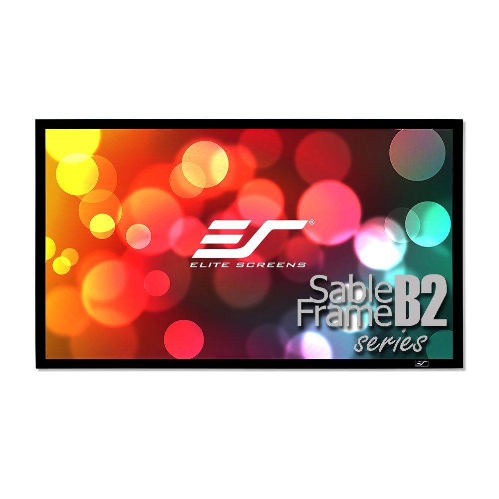 Elite Screens Sable Frame B2, 120-inch Diag. 16:9, Active 3D / 4K Ultra HD Fixed Frame Home Theater Projection Projector Screen Kit, SB120WH2 by Elite Screens