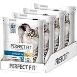 Perfect Fit Katzen-/Trockenfutter Adult 1+ für Erwachsene Katzen Indoor Reich an Huhn, 4 Beutel (4 x 1,4 kg)