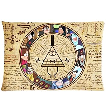 Chetery Funny Gravity Falls Bill Cipher Map Pattern Best Choice Decorate Pillowcase Custom Pillowcase Soft Pillow
