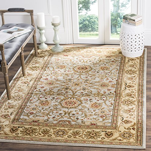 ollection LNH212J Traditional Oriental Grey and Beige Square Area Rug (6' Square) (Beige Slate)