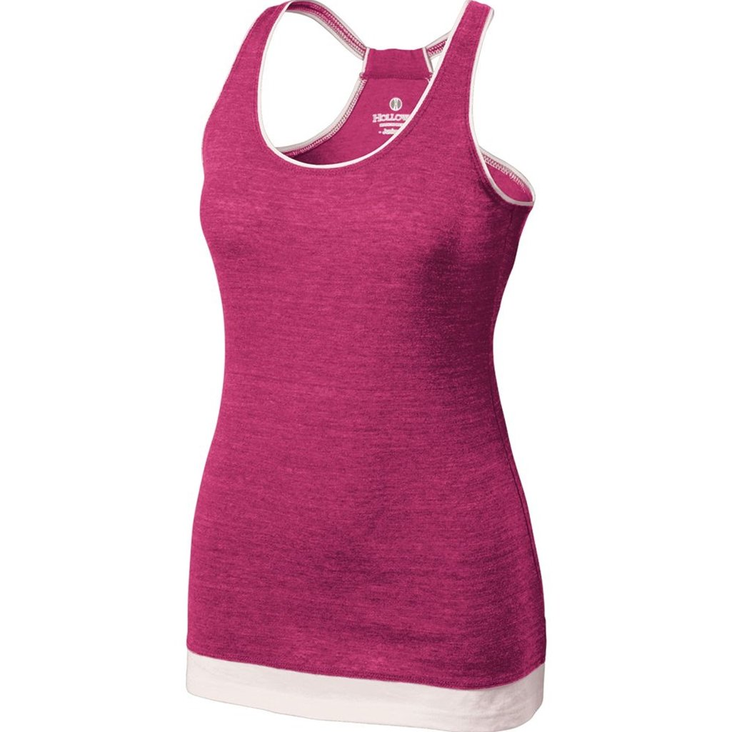 Holloway Juniors Pep Vintage Tank (XX-Large, Vintage Pink/White) by Holloway