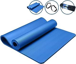 HCJYJD GUORONG Esteras de Yoga, para Principiantes Estera de Fitness Widen Thicken Estera de Ejercicio Antideslizante extendida Suave y cómodo Antideslizante Estera de Yoga