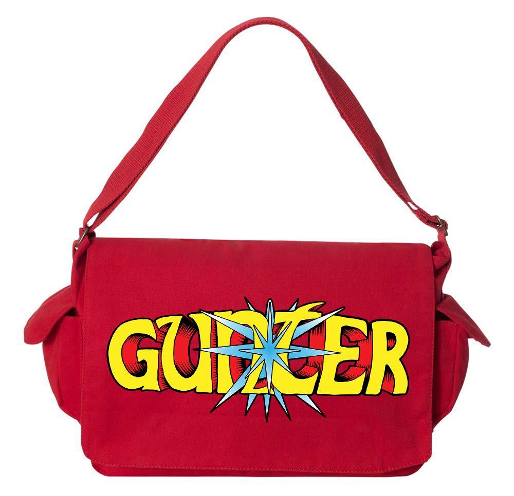 Tenacitee Jousting Gunter Flamingo Raw Edge Canvas Messenger Bag