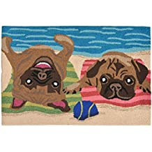 Liora Manne FT023A53044 Whimsy Beach Bums Rug, Indoor/Outdoor, Scatter Size, Multicolored