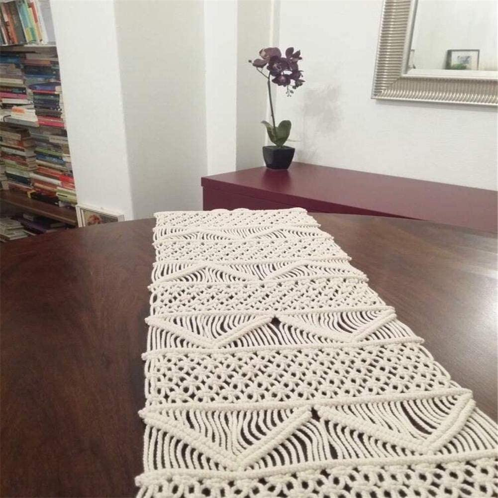 Ethnic Style Creative Macrame Tablecloth Bed Runner Boho Wedding Decor Doily Handwoven Tapestry Bedding For Home seawe Table Runner