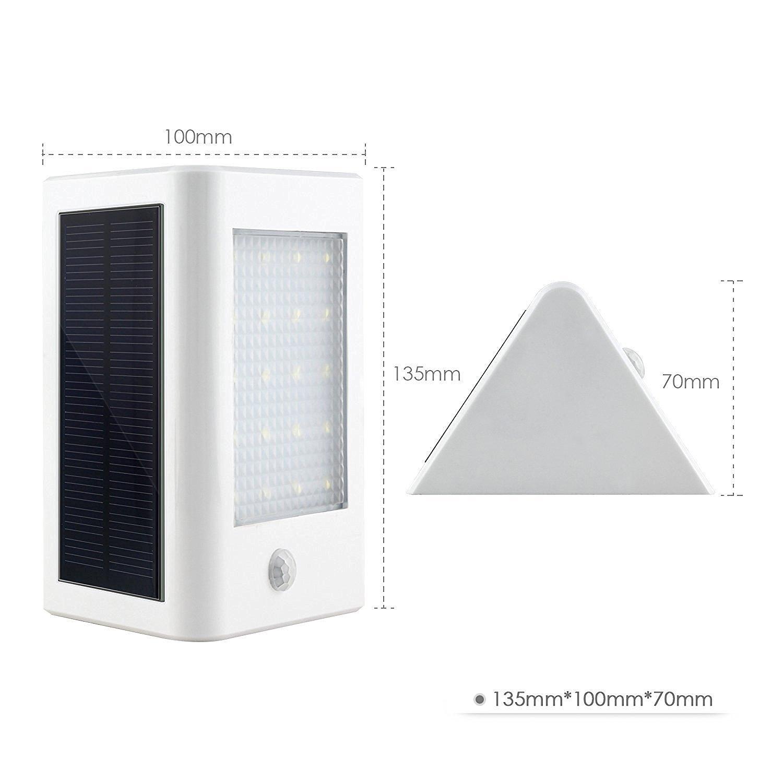 Deckey led solar 3W Lámpara Exterior Sensor Movimiento Automático Luz Jardín Patio Luz Color Blanco Frío: Amazon.es: Hogar